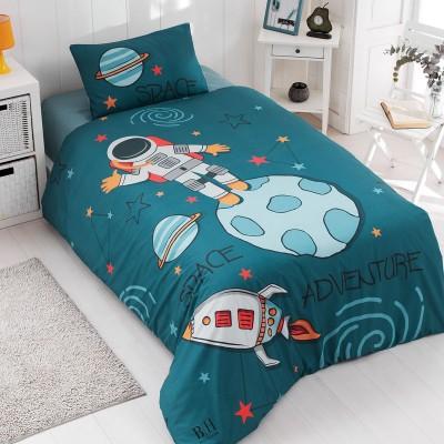 Κουβερλί μονό Space Art 6167  160x240 Μπλε,Πράσινο Beauty Home