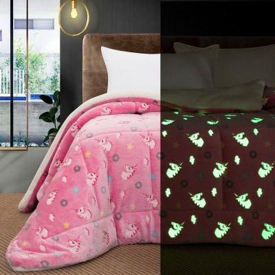 Κουβερτοπάπλωμα μονό φωσφοριζέ Art 6154 160x220 Ροζ Beauty Home