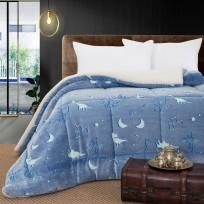 Κουβερτοπάπλωμα μονό φωσφοριζέ Art 6159 160x220 Γαλάζιο Beauty Home