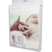 Αναμνηστικό αποτύπωμα μωρού σε λευκή κορνίζα Dooky, 130010