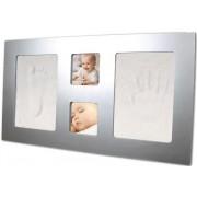 Αναμνηστικό αποτύπωμα μωρού σε ασημένια κορνίζα Dooky, 130011