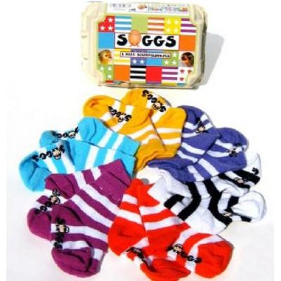 Καλτσάκια βρεφικά 6 τμχ Dooky Soggs Stripes 160110