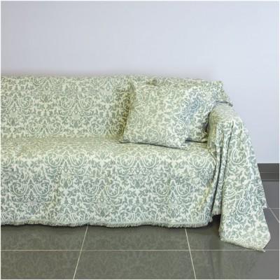 Ριχτάρι τετραθέσιου καναπέ 350x180cm, ακρυλικό σενίλ, γκρι, ελληνικής κατασκευής FENNEL 21C03GR4