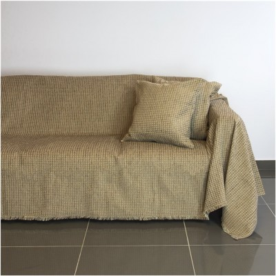 Ριχτάρι διθέσιου καναπέ 250x180cm, ακρυλικό σενίλ, καφέ, ελληνικής κατασκευής FENNEL 30275