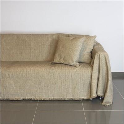 Ριχτάρι τριθέσιου καναπέ 300x180cm, ακρυλικό σενίλ, μπεζ, ελληνικής κατασκευής FENNEL 21C02BG3