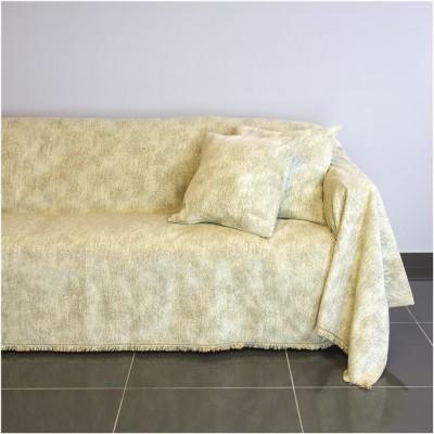 Ριχτάρι τριθέσιου καναπέ 300x180cm, ακρυλικό σενίλ, μπεζ, ελληνικής κατασκευής FENNEL 21C01BG3