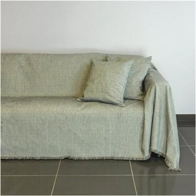Ριχτάρι τριθέσιου καναπέ 300x180cm, ακρυλικό σενίλ, γκρι, ελληνικής κατασκευής FENNEL 21C02GR3
