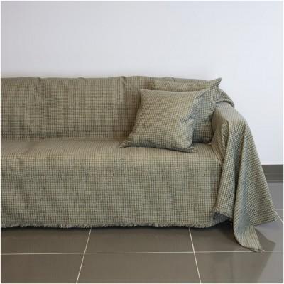 Ριχτάρι τριθέσιου καναπέ 300x180cm, ακρυλικό σενίλ, γκρι, ελληνικής κατασκευής FENNEL 18C01GR3