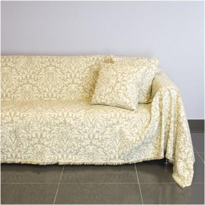 Ριχτάρι τετραθέσιου καναπέ 350x180cm, ακρυλικό σενίλ, μπεζ, ελληνικής κατασκευής FENNEL 21C03BG4