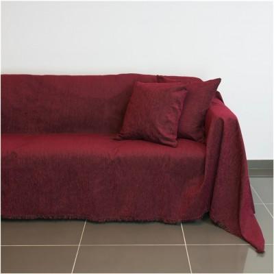 Ριχτάρι διθέσιου καναπέ 250x180cm, ακρυλικό σενίλ, μπορντώ, ελληνικής κατασκευής FENNEL 30265