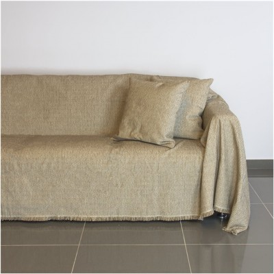 Ριχτάρι διθέσιου καναπέ 250x180cm, ακρυλικό σενίλ, μπεζ, ελληνικής κατασκευής FENNEL 30250