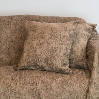 Διακοσμητική μαξιλαροθήκη 50x50cm, ακρυλικό σενίλ, καφέ, ελληνικής κατασκευής FENNEL 21C01BRP50