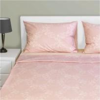 Σετ Μαξ/κη + Σεντόνια μονά με Λάστιχο, 160x260cm,100% βαμβ., 144 κλωστές,siliconized, δαμασκηνό ροζ FENNEL 31193