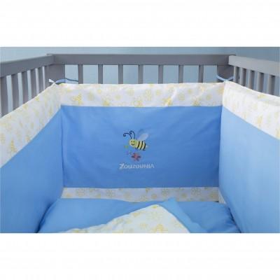 Βρεφική Πάντα Κρεβατιού 40x200cm, 100% Βαμβάκι, με Κέντημα Μέλισσα ZOUZOUNIA 31867