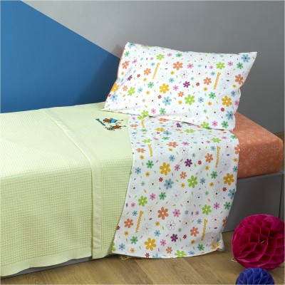 Κουβέρτα Παιδική, 100% βαμβάκι, 160x240cm, με σχέδιο Μπάμπουρας, χρώμα Πράσινο ZOUZOUNIA 32372