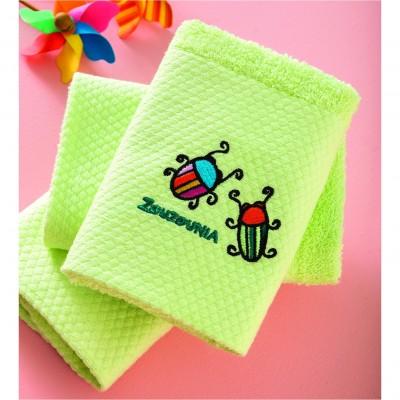 Σετ 3 Πετσέτες Βρεφικές, 100% βαμβάκι, 30x50cm, με σχέδιο Μπάμπουρας, χρώμα Πράσινο ZOUZOUNIA ZOU-BD-350