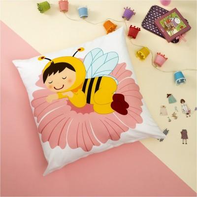 Βρεφική Μαξιλαροθήκη, 100% Βαμβάκι, 80x80cm, με σχέδιο Παιδί Μέλισσα ZOUZOUNIA ZOU-BD-204