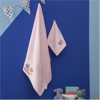 Σετ 2 Πετσέτες Βρεφικές, 100% βαμβάκι, 30x50cm & 70x140cm, με σχέδιο Πεταλούδα, χρώμα Ροζ ZOUZOUNIA ZOU-BD-377