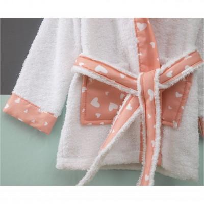 Μπουρνούζι Βρεφικό για 0-12 Μηνών, με σχέδιο Πασχαλίτσα, χρώμα Λευκό ZOUZOUNIA ZOU-BD-271