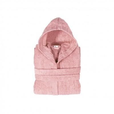 Μπουρνούζι με κουκούλα, παιδικό 8-10, Ροζ, Σειρά Comfort, 420gr/m², Πενιέ,  FENNEL BRHC-Y8-10-PK