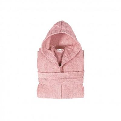 Μπουρνούζι με κουκούλα, παιδικό 6-8, Ροζ, Σειρά Comfort, 420gr/m², Πενιέ,  FENNEL BRHC-Y6-8-PK