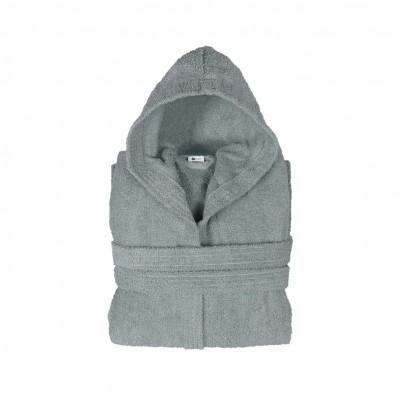 Μπουρνούζι με κουκούλα, παιδικό 12-14, Γκρι, Σειρά Comfort, 420gr/m², Πενιέ,  FENNEL BRHC-Y12-14-GR