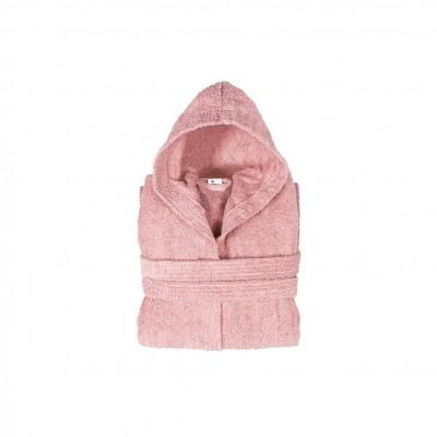Μπουρνούζι με κουκούλα, παιδικό 4-6, Ροζ, Σειρά Comfort, 420gr/m², Πενιέ,  FENNEL BRHC-Y4-6-PK