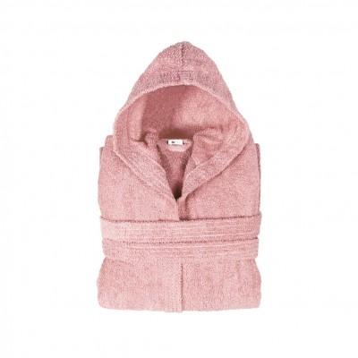 Μπουρνούζι με κουκούλα, παιδικό 12-14, Ροζ, Σειρά Comfort, 420gr/m², Πενιέ,  FENNEL BRHC-Y12-14-PK