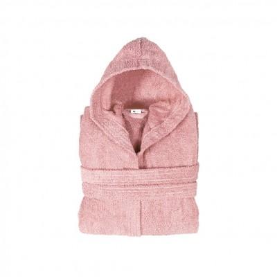 Μπουρνούζι με κουκούλα, παιδικό 10-12, Ροζ, Σειρά Comfort, 420gr/m², Πενιέ,  FENNEL BRHC-Y10-12-PK