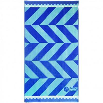 Πετσέτα θαλάσσης, 90x165cm (630gr), Ζακάρ, 100% Βαμβάκι Αιγύπτου, Πάνω πλευρά Βελουτέ,  FENNEL BTCO-90165-P006