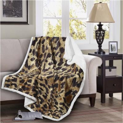Κουβέρτα καναπέ με γούνα, 190gsm Ming+200gsm sherpa, 130x170cm, fennel FENNEL 28189