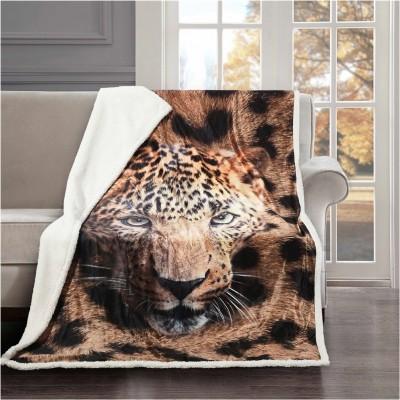 Κουβέρτα καναπέ με γούνα, 190gsm Ming+200gsm sherpa, 130x170cm, fennel FENNEL BMS390-130170-P001