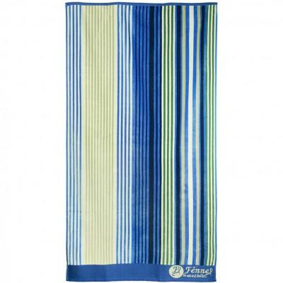 Πετσέτα θαλάσσης, 90x165cm (630gr), Ζακάρ, 100% Βαμβάκι Αιγύπτου, Πάνω πλευρά Βελουτέ,  FENNEL BTCO-90165-P009