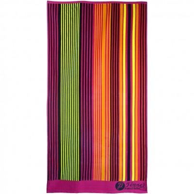 Πετσέτα θαλάσσης, 90x165cm (630gr), Ζακάρ, 100% Βαμβάκι Αιγύπτου, Πάνω πλευρά Βελουτέ,  FENNEL BTCO-90165-P010