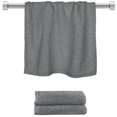 Πετσέτα προσώπου σκούρο γκρι 50x100cm, 100% Bamboo, 650gr/m²,  FENNEL 27473