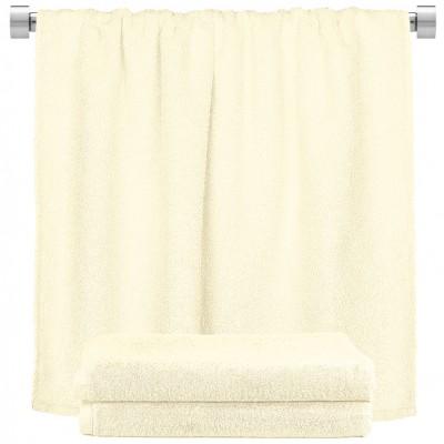 Πετσέτα σώματος εκρού 100x150cm, 100% Bamboo, 650gr/m²,  FENNEL 27445