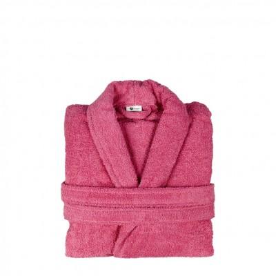 Μπουρνούζι με γιακά, Large, Φούξια, Σειρά Comfort, 420gr/m², Πενιέ,  FENNEL 26107