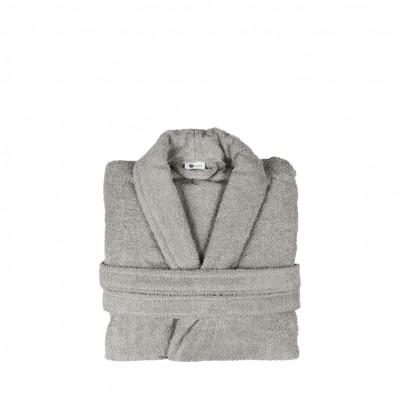 Μπουρνούζι με γιακά, Small, Γκρι, Σειρά Comfort, 420gr/m², Πενιέ,  FENNEL 26101