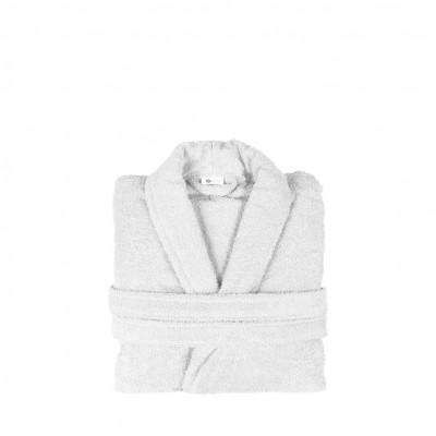 Μπουρνούζι με γιακά, Small, Λευκό, Σειρά Comfort, 420gr/m², Πενιέ,  FENNEL BRCC-S-WH
