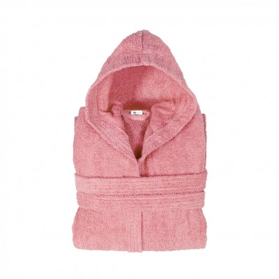 Μπουρνούζι με κουκούλα, Small, Ροζ, Σειρά Comfort, 420gr/m², Πενιέ,  FENNEL BRHC-S-PK