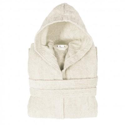 Μπουρνούζι με κουκούλα, XL, εκρου, Σειρά Comfort, 420gr/m², Πενιέ,  FENNEL 26132