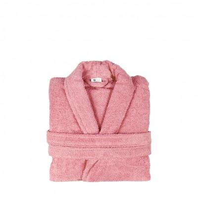 Μπουρνούζι με γιακά, Medium, Ροζ, Σειρά Comfort, 420gr/m², Πενιέ,  FENNEL 26096
