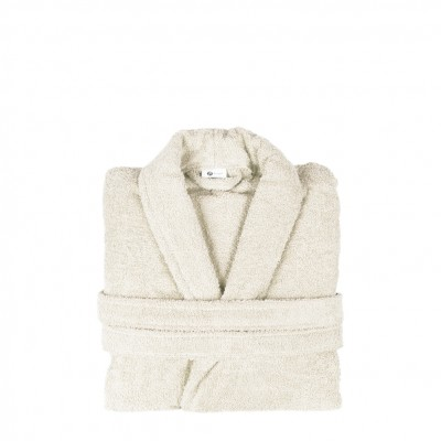 Μπουρνούζι με γιακά, Large, εκρου, Σειρά Comfort, 420gr/m², Πενιέ,  FENNEL 26093