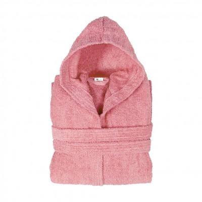 Μπουρνούζι με κουκούλα, Medium, Ροζ, Σειρά Comfort, 420gr/m², Πενιέ,  FENNEL BRHC-M-PK
