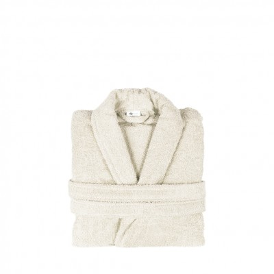 Μπουρνούζι με γιακά, Small, εκρου, Σειρά Comfort, 420gr/m², Πενιέ,  FENNEL 26091