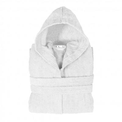 Μπουρνούζι με κουκούλα, Large, Λευκό, Σειρά Comfort, 420gr/m², Πενιέ,  FENNEL 26117