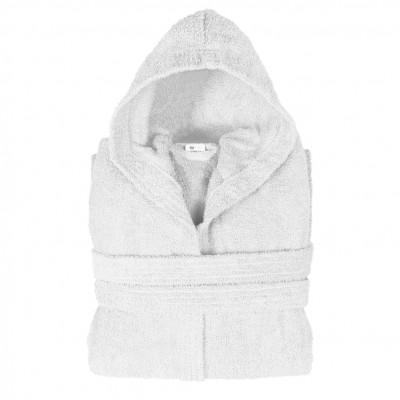 Μπουρνούζι με κουκούλα, XL, Λευκό, Σειρά Comfort, 420gr/m², Πενιέ,  FENNEL 26134