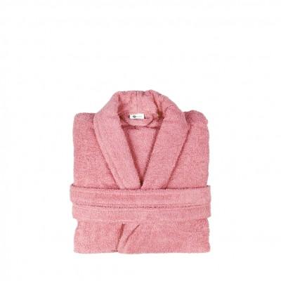 Μπουρνούζι με γιακά, Small, Ροζ, Σειρά Comfort, 420gr/m², Πενιέ,  FENNEL 26095