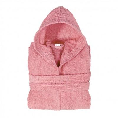 Μπουρνούζι με κουκούλα, Large, Ροζ, Σειρά Comfort, 420gr/m², Πενιέ,  FENNEL BRHC-L-PK