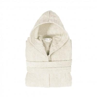 Μπουρνούζι με κουκούλα, Small, εκρου, Σειρά Comfort, 420gr/m², Πενιέ,  FENNEL 26125